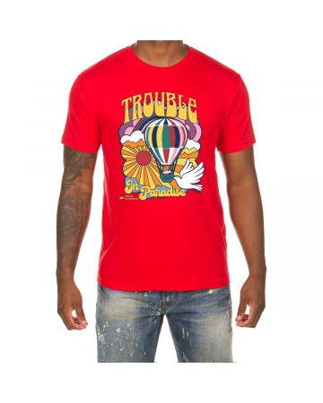 Trouble in Paradise SS Tee (Racing Red)