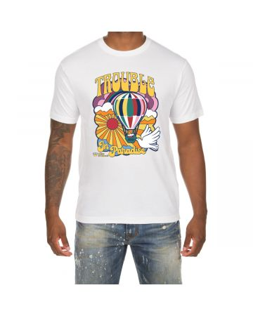 Trouble in Paradise SS Tee (White)