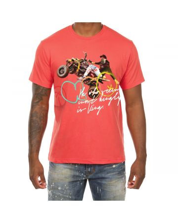 Rollin SS Tee (Coral Rose)