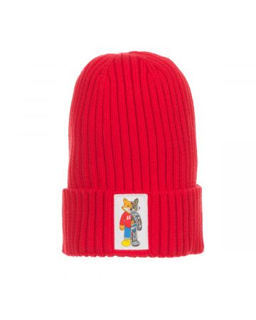 Robotic Knit Hat (Racing Red)