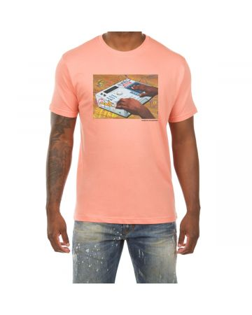 Beat Drop SS Tee (Coral Rose)