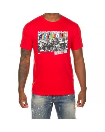 Rise Above SS Tee (Racing Red)
