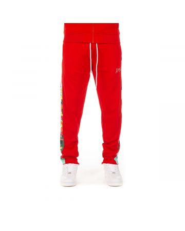 Abstract Track Pant (Racing Red)