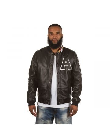 Letterman Jacket (Black/White)
