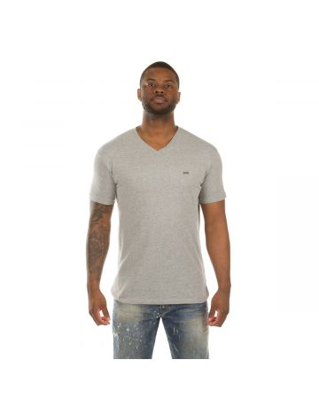 Honor V-Neck SS Knit (Heather Grey)