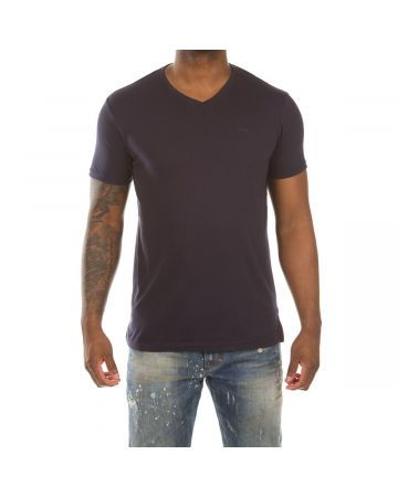 Honor V-Neck SS Knit (Navy)