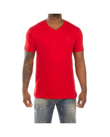 Honor V-Neck SS Knit (Racing Red)