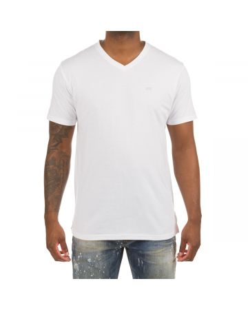 Honor V-Neck SS Knit (White)