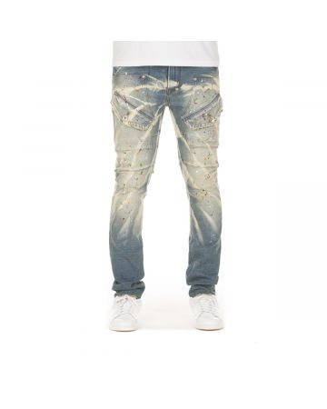 Painted Stretch Jean (Silver Top)