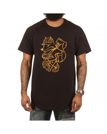 Outsider Scoop Btm Tee (Black)