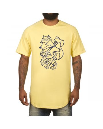Outsider Scoop Btm Tee (Lemon Drop)