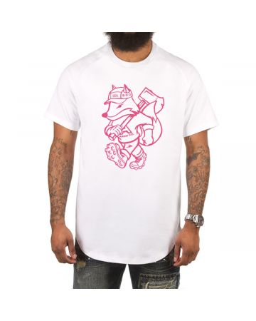 Outsider Scoop Btm Tee (White)