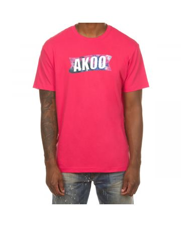 Dyed Flag SS Tee (Raspberry Sorbet)