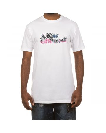 A King Of Oneself SS Tee (White/Pink)