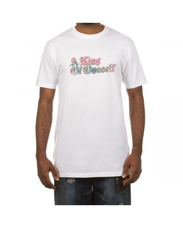 A King Of Oneself SS Tee (White/Red)