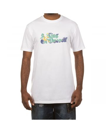 A King Of Oneself SS Tee (White/Yellow)