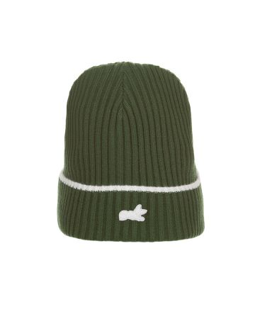 Fox Knit Hat (Dark Green)
