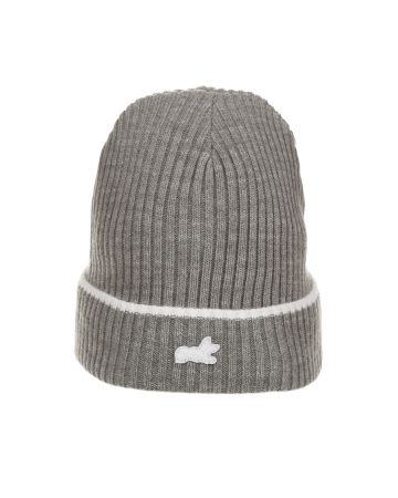 Fox Knit Hat (Heather Steel Gray)
