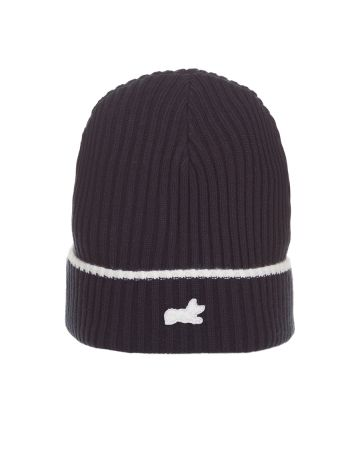 Fox Knit Hat (Navy Blazer)