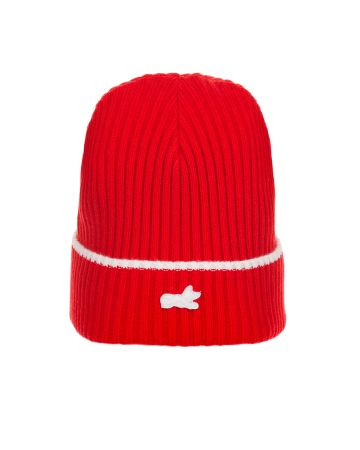 Fox Knit Hat (Racing Red)