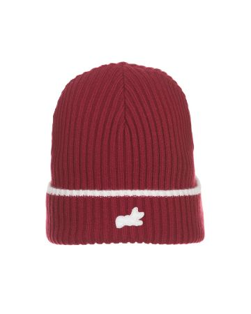 Fox Knit Hat (Red Plum)