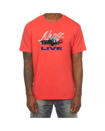 Pull Up SS Tee (Hot Coral)