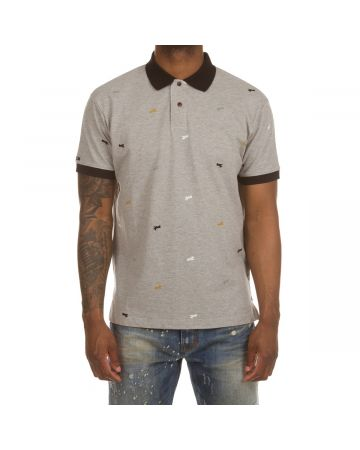 Snobby SS Polo (Heather Grey)