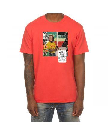 Paradise SS Tee (Hot Coral)