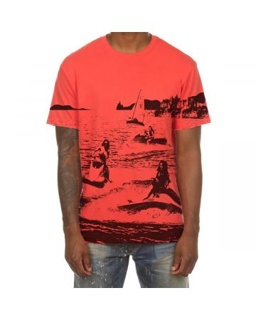Jet Ski SS Tee (Hot Coral)