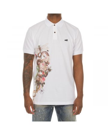 Rise SS Polo (Bleached White)